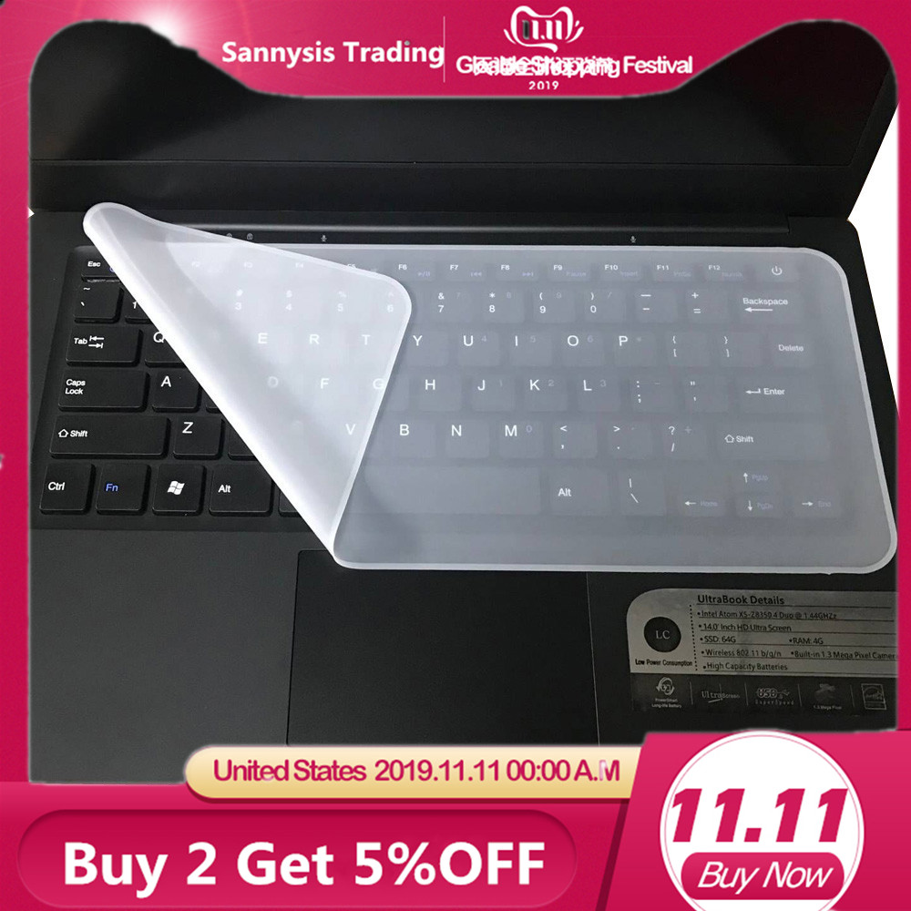 Hot sale Universal Silicone Keyboard Protector Skin For Laptops accessories 13-14.1 Keyboard Covers For asus rog For macbook
