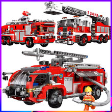 xingbao Fire Fighting Trucks Car Building Blocks Fire Accident Rescue Car Compatible Legoed Technic City Firefighter Bricks Toys(China)