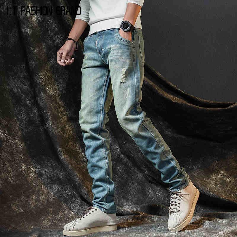 Anti-season Sales Trend Loose Thin Section Wild Men's Pants Ripped Jeans Slim Straight Men's Jeans  BM928