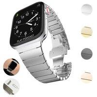 Correa para Apple Watch Series 5 4 3 2 40MM 44MM 38MM 42MM, Correa deportiva para iwatch, accesorios de bucle de metal