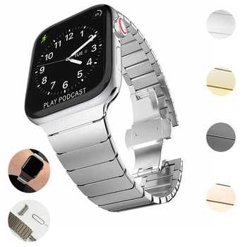 Band for Apple Watch Series 5 4 3 2 40MM 44MM 38MM 42MM Sport Bracelet Strap For iwatch metal loop Accessories - discount item  18% OFF Watches Accessories