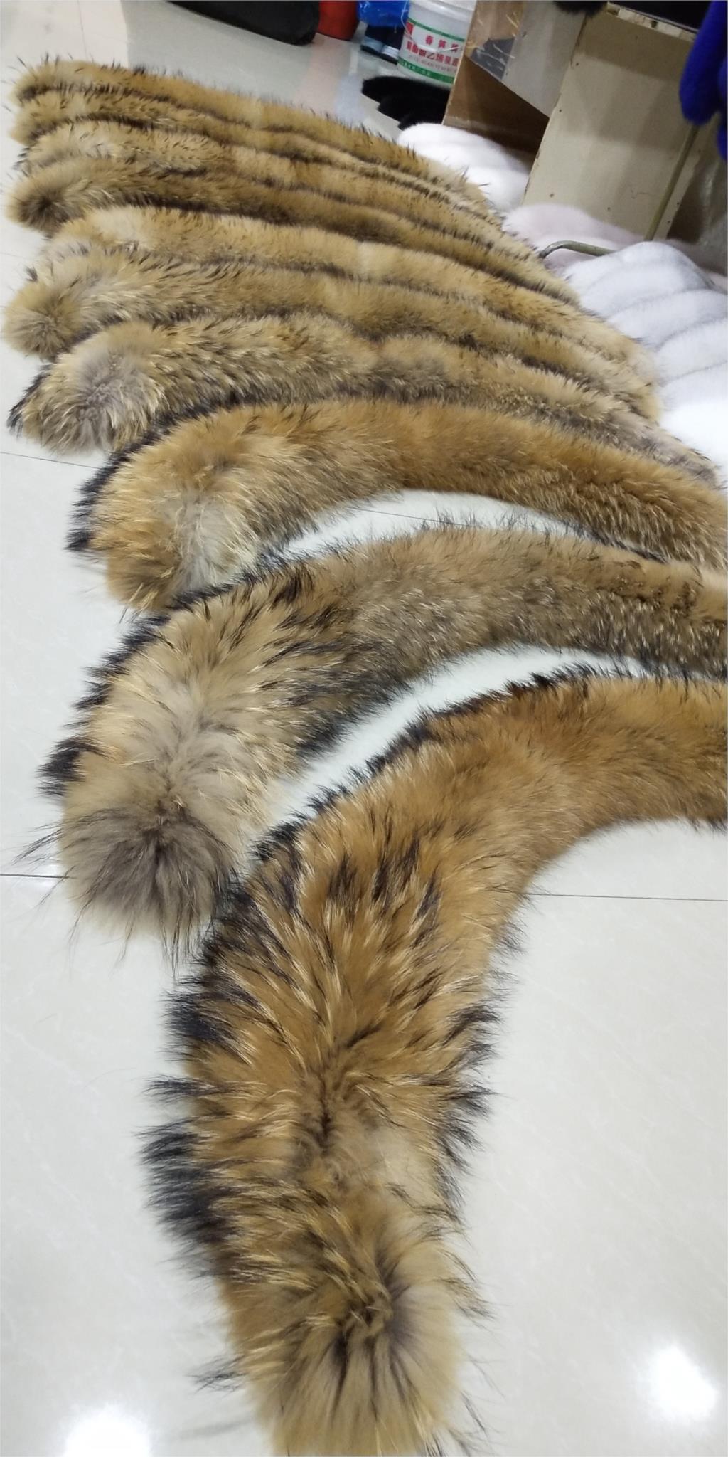 ZDFURS * Zimski 100% pravi naravni rakunast krzneni ovratnik ženski - Oblačilni dodatki - Fotografija 4