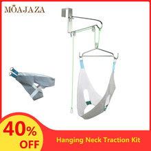 Door Hanging Neck Traction Kit Home Use Powerful Cervical Support Pain Stress Re