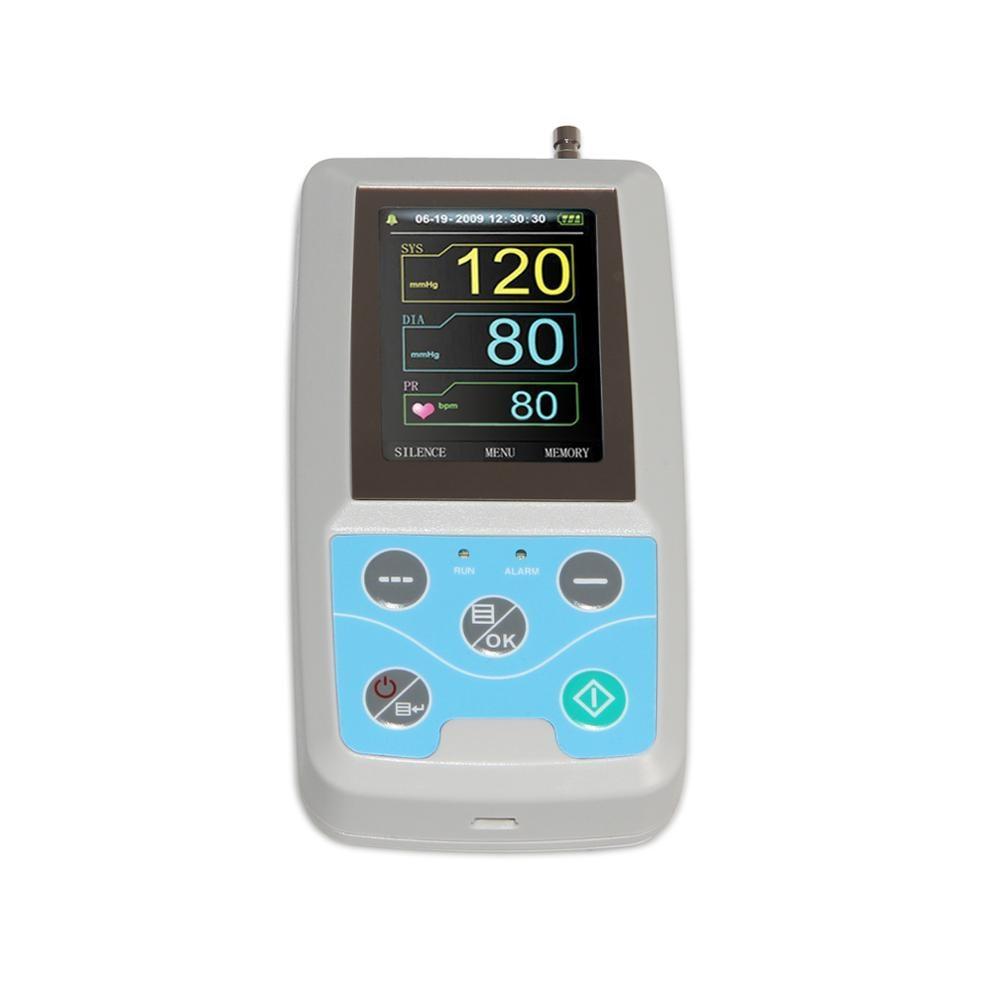 FDA Амбулаторен монитор за кръвно налягане 24 часа NIBP Holter CONTEC ABPM50 + за възрастни, деца, големи, 3 маншета, безплатен софтуер за компютър