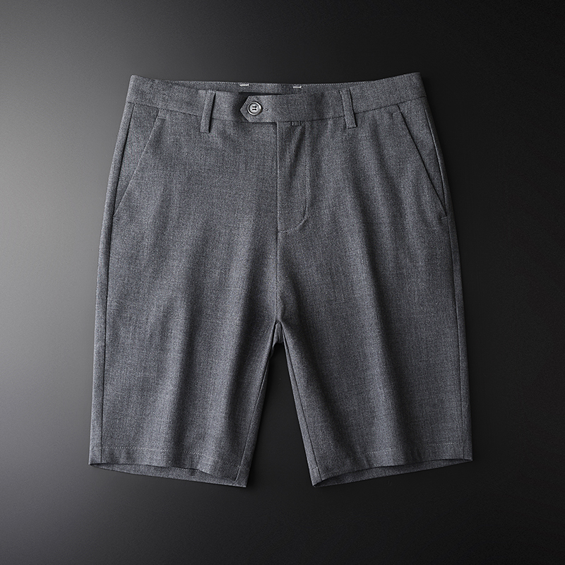 Slim Thin Shorts Mens Fashion Fitness Workout Casual Summer Shorts Elastic Waist Stretch Streetwear Korean Male Sweatpant KK60ND