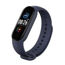 M5 Bracelet à bande intelligente Bluetooth sport Fitness Tracker moniteur de fréquence cardiaque étanche femmes hommes regarder Bracelet de santé intelligente