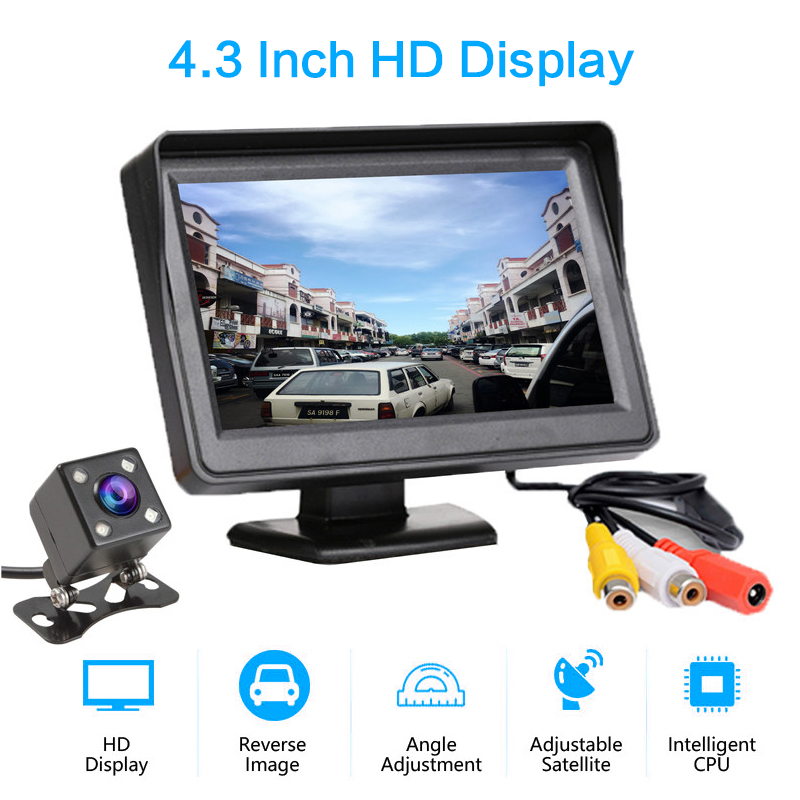 4.3 Inch TFT LCD Wireless Cameras Car Monitor Display Reverse Camera Parking System For Car Rearview Monitors
