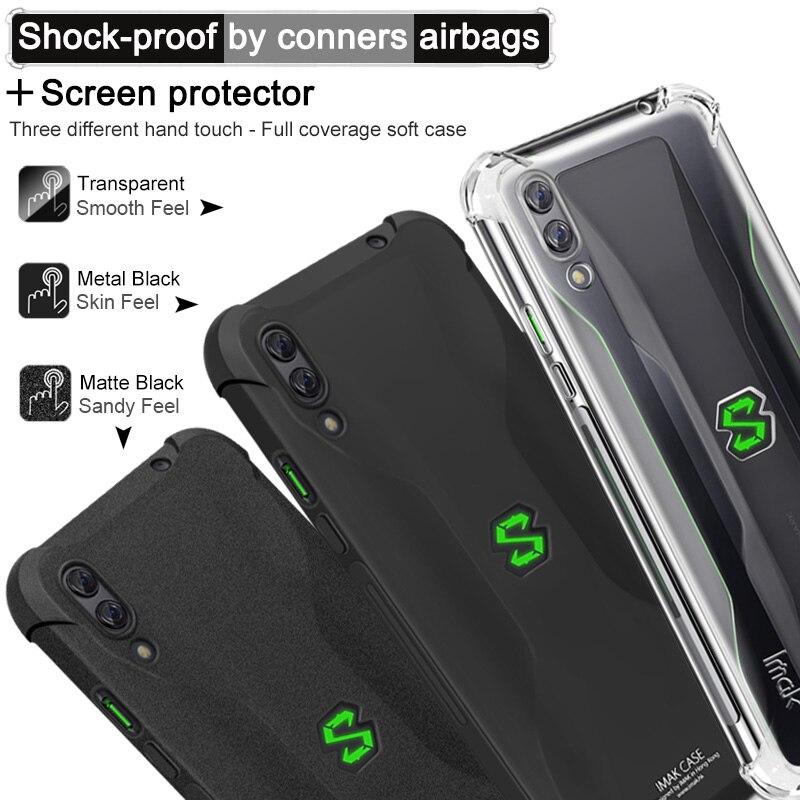 6.39'' Black Shark2 Crystal Case Black Shark 2 Case IMAK Clear Silicon TPU Cover for Funda Xiaomi BlackShark 2 Case BlackShark2