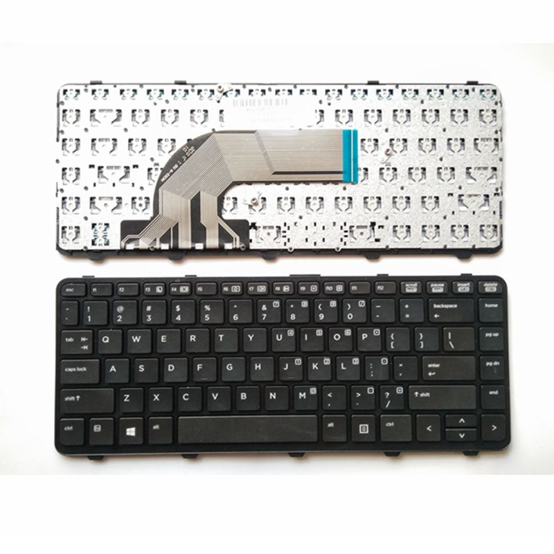 YALUZU US/RU New Laptop Keyboard For HP FOR ProBook 640 440 445 G1 G2 640 645 430 G2 Black Keyboard With Frame