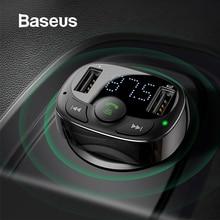 Baseus, fm-передатчик, Aux модулятор, беспроводной, Bluetooth, гарнитура, автомобильный комплект, аудио, MP3 плеер, быстрая зарядка, двойной USB, автомобильное зарядное устройство