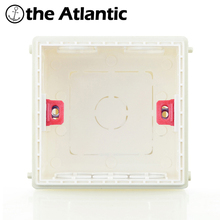 Atlectric-Mounting-Box Socket Concealed Cassette-Switch Internal White Hidden 86 Red