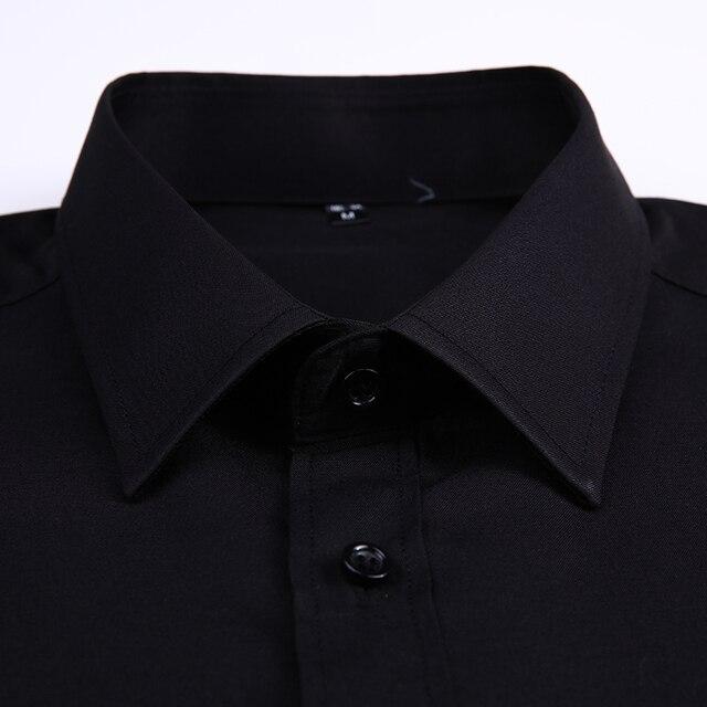 Классическая офисная мужская рубашка с длинным рукавом 5