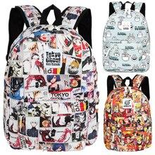 Аниме Токийский Гуль цельный рюкзак сумка школьная сумка для книг студенты подростков Косплей Подарки