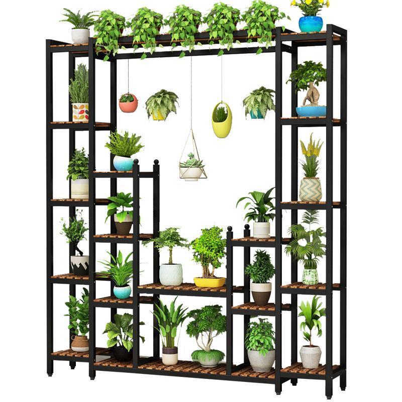 Interior Rack Escalera Decorativa Madera Wooden Shelves For Stojaki Varanda Outdoor Balcony Shelf Stojak Na Kwiaty Flower Stand