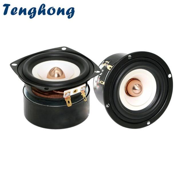 Tenghong 2PCS 3Inch Full Range Frequency Speaker 4Ohm 8Ohm 15W Hifi Mediant Bass Loudspeaker For Home Theater DIY
