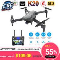 2019 NEUE K20 Drone Mit 4K Kamera Dual GPS One-Key-Rückkehr Headless Modus Folgen Mir Kreis Fly RC Drohnen spielzeug