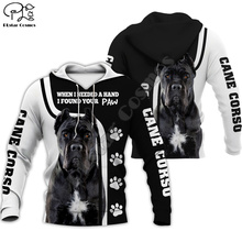 Men women cane corso limited edition 3d full printed zipper hoodie long sleeve Sweatshirts jacket pullover tracksuit G2