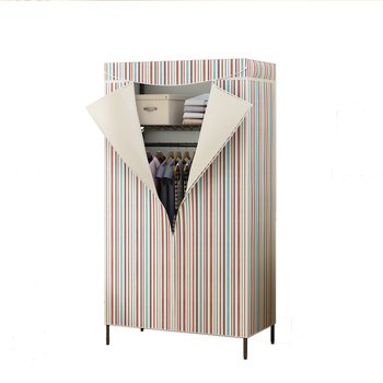 Simple Cloth Wardrobe Double Enlarge Fully Sealed Dustproof Economical Simple Clothing Cabinet Wardrobe