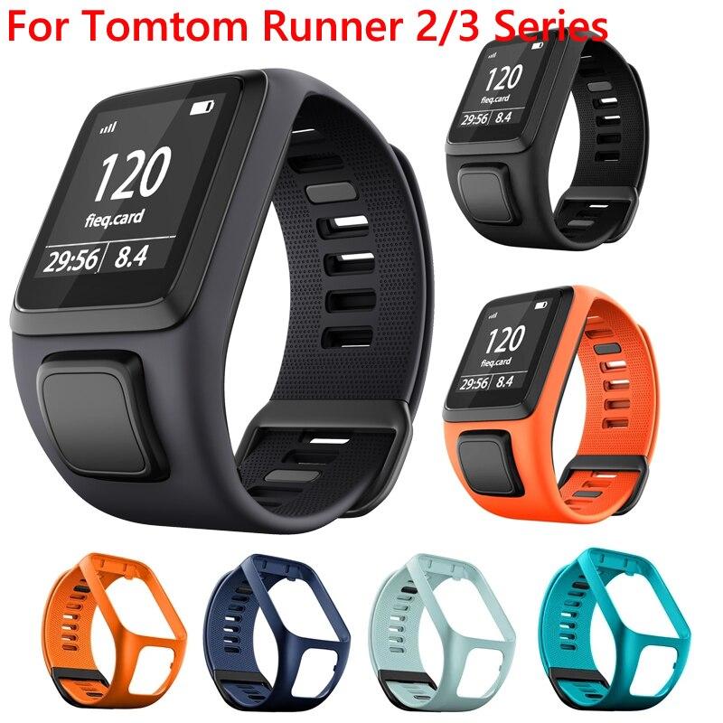 Сменный силиконовый ремешок на запястье для TomTom Runner 2 3 Spark3 Adventurer Golfer 2 Spark кардио GPS спортивный браслет ремешок для часов