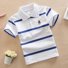 Jargazol – t-shirt à col rabattu pour enfants, vêtement à rayures colorées, pour bébés garçons et filles