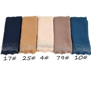 Image 5 - E4 20 ピース/ロット高品質レーザーカットシフォンヒジャーブショールスカーフ女性のスカーフ/スカーフ女性ラップショール選択することができ色