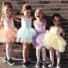Fashion Girls Tutu Super Fluffy 5 Layer petticoat Princess Ballet Dance Tutu dress Kids Sleeveless Patchwork Sweet Dress For Gir