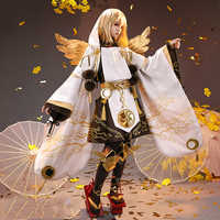 Onmyoji-Kimono de piel de JinYuJinPeng para hombre, traje de uniforme hermoso, Cosplay, fiesta de Halloween