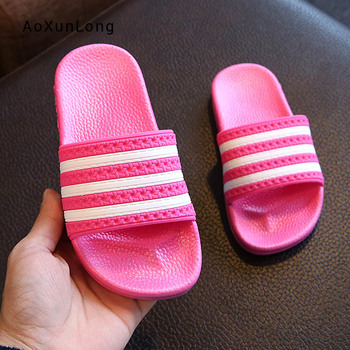 Summer New Women Slippers Home Indoor Adult Flat Loafers PVC Outsole Luxury Slides Shoes Fashion Striped Basic Ladies Slippers
