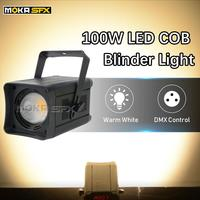 2pcs 100W COB Par Light Warm White/Cold White/RGBW Blinder Light Stage Effect Par Light LED for DJ Concert Wedding Disco COB Par