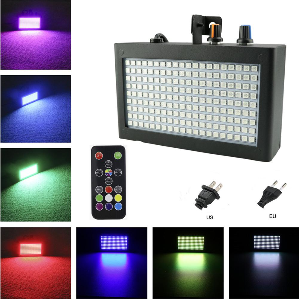 35W 180LED Strobe Flash Light Sharp-flash Running Sound Control Stage Light for Pub Bar Disco DJ Party Ktv Wedding