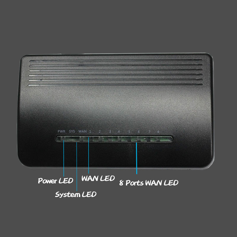 9port wired router RTL8196E Chip SOHO plastic box DHCP ethernet home office black shell english web smart management interface 4