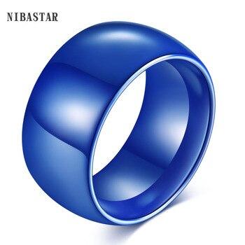 Белый/синий 2 цвета унисекс ювелирные изделия США размер 6-11 # Роскошные широкие Керамические Кольца Обручальное Кольцо Vogue широкое керамическое кольцо
