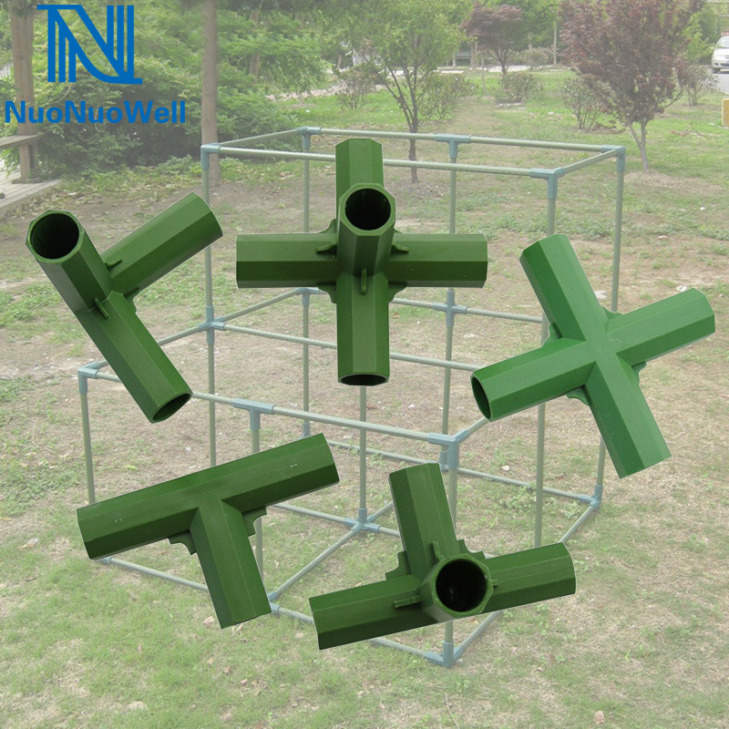 20PCS 16MM Plastic Filled Steel Tube Parts Gardening Greenhouse Joints Garden Plastic Tee Connectors Bracket DIY Fittings image
