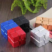 Infinity cube алюминиевые Кубики Игрушки премиум класса металлическая