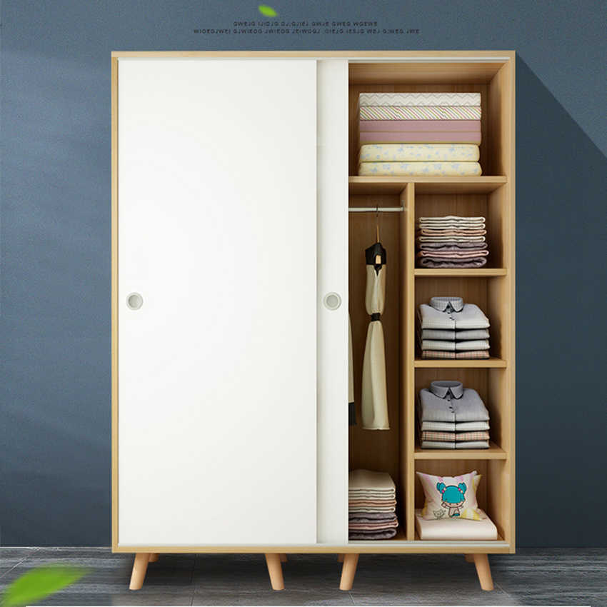 Easily Assemble Sliding Doors Wardrobe Closet Bedroom Furniture Storage Cabinet Aarmario Muebles Moveis Wood Modern Wardrobe Wardrobes Aliexpress