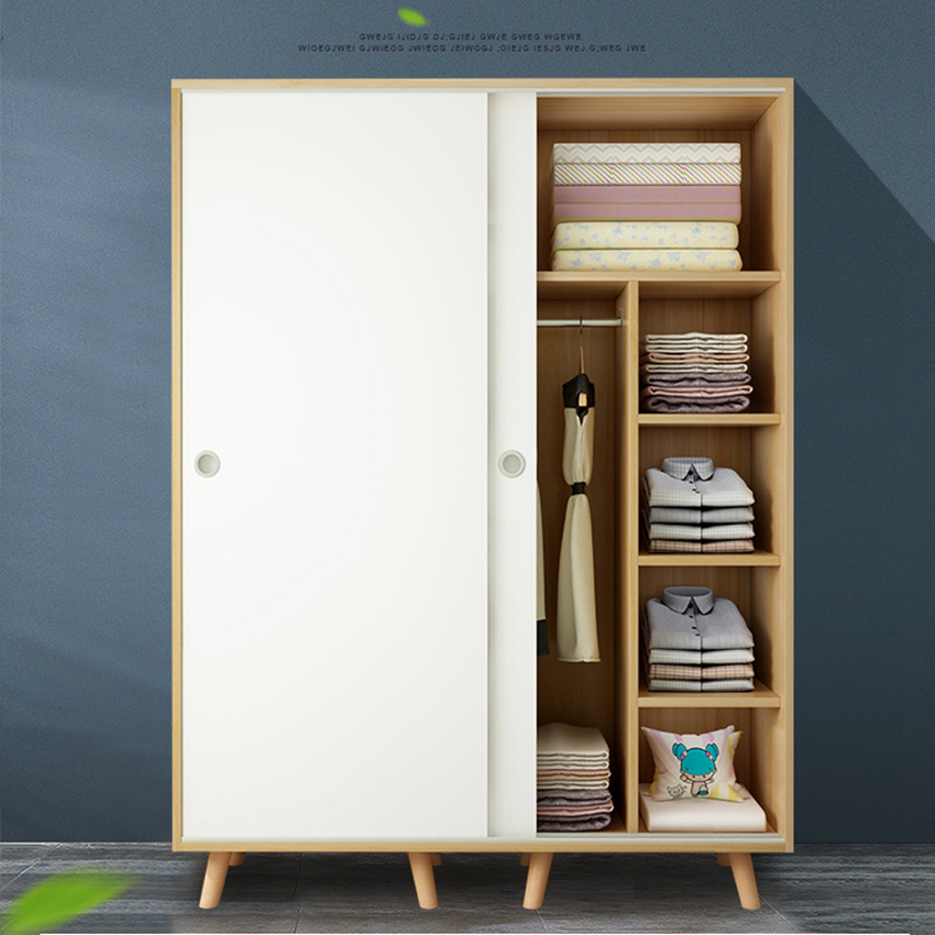 Easily Assemble Sliding Doors Wardrobe Closet Bedroom Furniture Storage Cabinet Aarmario Muebles Moveis Wood Modern Wardrobe Wardrobes Aliexpress