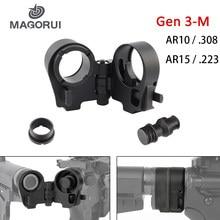 Magorui tactcal carabinas ar15 ar10. 223 .308 m4/m16 Gen3-M ar dobrável estoque adaptador caça acessórios