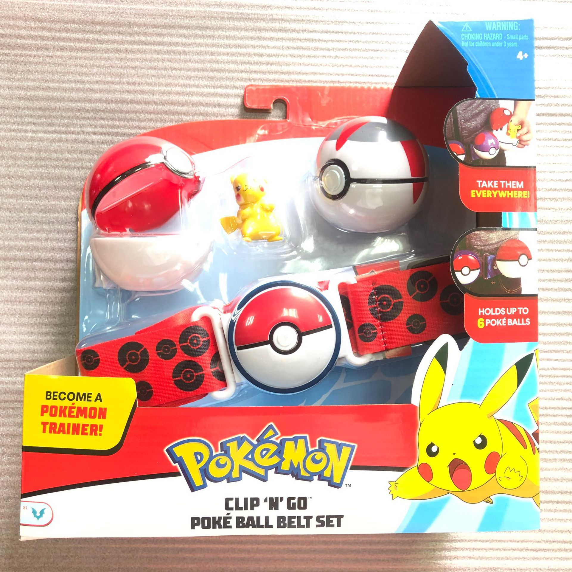Pokemones Ball figure With Belt and Pop-up Action Figure Model Toys Retractable Belt Gifts Kids Toys in box 2