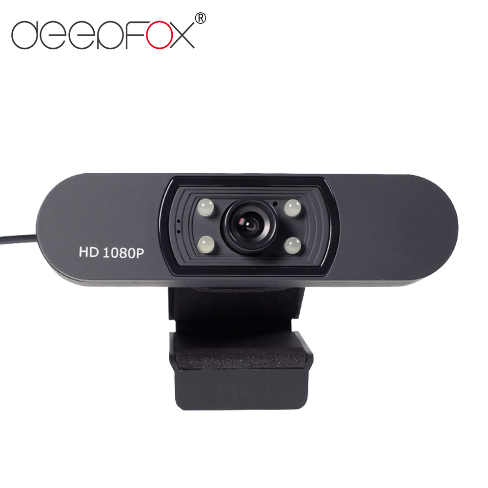 DeepFox Webcam 1080P HDWeb Camera With Built-in HD Microphone 1920 X 1080p USB Plug&Play Web Cam Widescreen Video