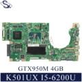 KEFU K501UX Laptop motherboard für ASUS K501UX K501UB original mainboard DDR3 8GB RAM I5 6200U GTX950M EDP-in Motherboards aus Computer und Büro bei