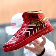 2020 мужские брендовые красные зеркала повседневная обувь модные