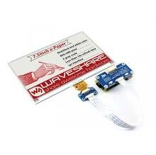 Электронная бумага Waveshare 7,5 дюйма (B), дисплей для Raspberry Pi, красный, черный, белый, три цвета, SPI, без подсветки, ультра низкий уровень расхода
