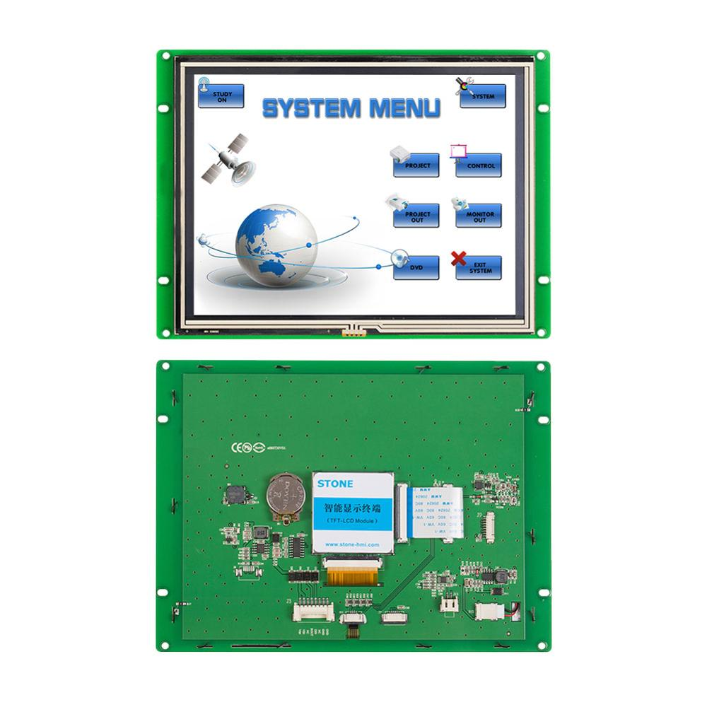 8 Inch Industrial HMI Touch Screen Display 16 Bit Color With RS232 Interface
