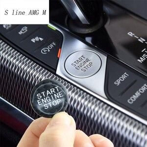Автомобильный Стайлинг, углеродное волокно, двигатель, старт, стоп, выключение, крышки кнопок, наклейки для BMW 3, серия G20, G28, интерьер, авто ак...