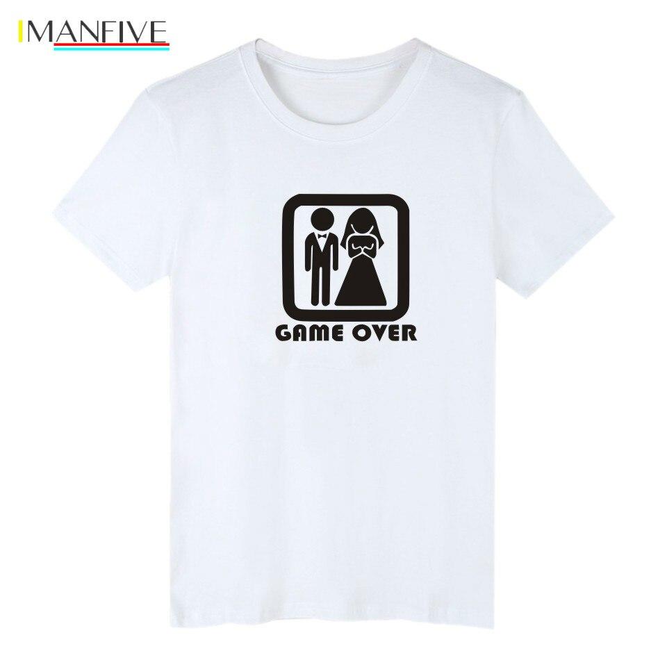Problem Solved Short Sleeve Tee Shirt Men Cotton Print Game OVER Tshirt Men Funny Fashion Black High Quality T shirt Men S 3XL in T Shirts from Men 39 s Clothing