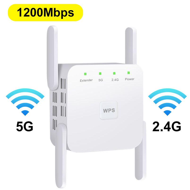 5G Wireless Wifi Repeater Wi-fi Signal Range Amplifier Wifi Extender 1200Mbps Wi Fi Booster 5ghz Wifi Ultraboost Repiter