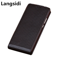 Business Genuine Leather Vertical Flip Case For Samsung Galaxy A70/Samsung Galaxy A60 Vertical Phone Case Up and Down Flip Capa