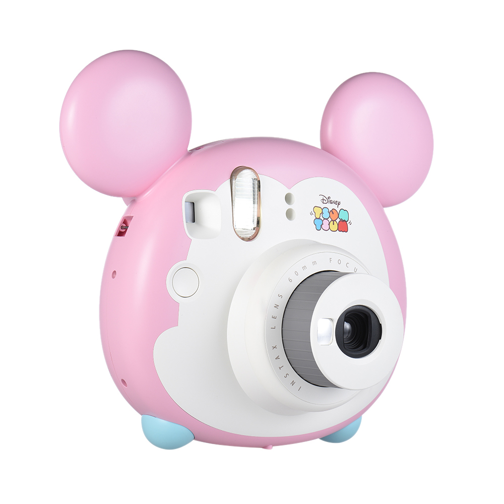 Fujifilm Instax Mini TSUMTSUM Instant Film Camera with 10 Sheet Film Cover Case with Shoulder Strap