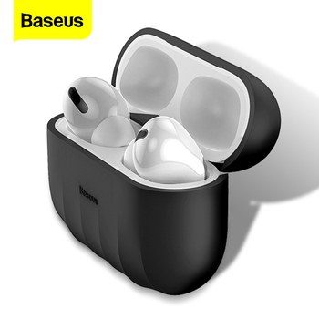 Baseus Silicone Case For Airpods Airpod Pro 3 Gel Luxury Cute Protective Cover Case For Apple Air Pods Pod Pro Skin Coque Fundas 3d lucky rat cartoon bluetooth earphone case for airpods pro cute accessories protective cover for apple air pods 3 silicone