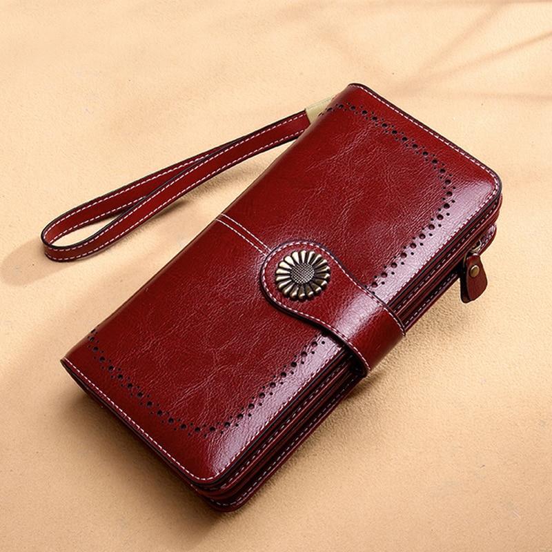 Aliwood Wallet Purse Money-Bag Women Clutch iPhone Zipper Carteira Hollow Brand Female
